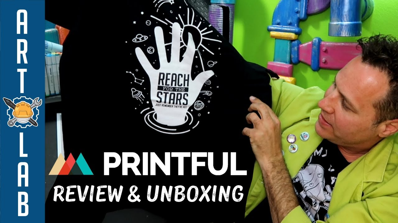 Printful Review and Unboxing- Selling Your Designs on T-Shirts!