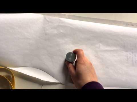 Schnittabnahme eines Kleides ohne Auftrennen der Nähte
