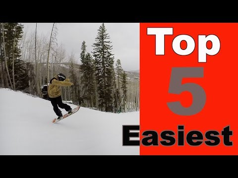 The Five Easiest Butters To Do On A Snowboard!