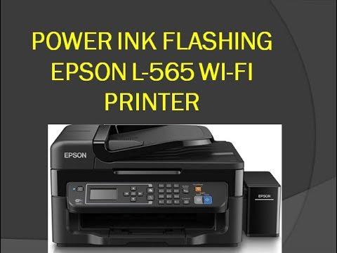 Power Ink Flushing Epson L 565 Wireless Printer Print Quality Problem Epson L 565 Youtube