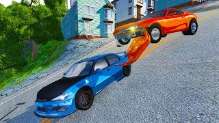 BeamNG Drive - INSANE DOWNHILL DRAG RACING!