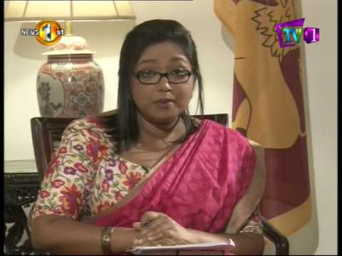 News 1st : NewsLine with Faraz Shauketaly and Shelley Whiting (Canadian High Commissioner to SL)