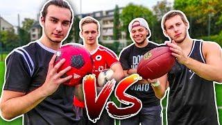 FOOTBALL VS ECHTER BALL FUßBALL CHALLENGE!!
