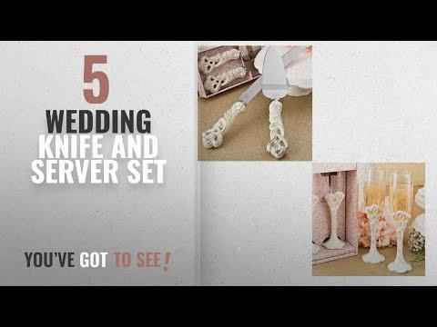 Top 10 Wedding Knife And Server Set [2018]: Fashioncraft Vintage Double Heart Design Wedding Cake