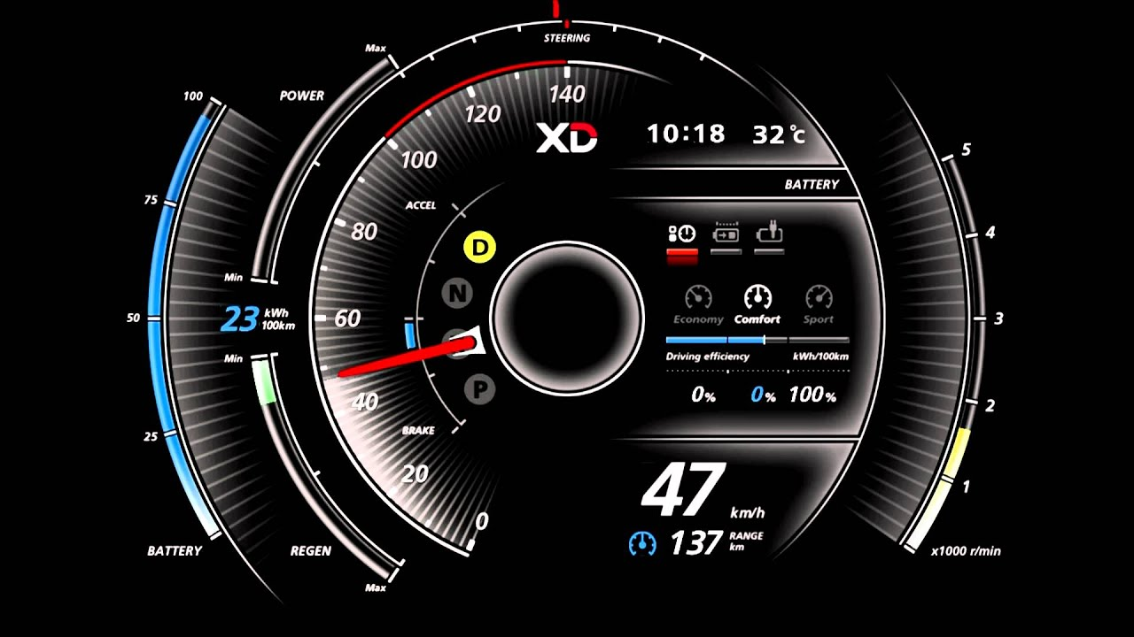Digital Car Gauges Cluster : Xd instrument cluster doovi