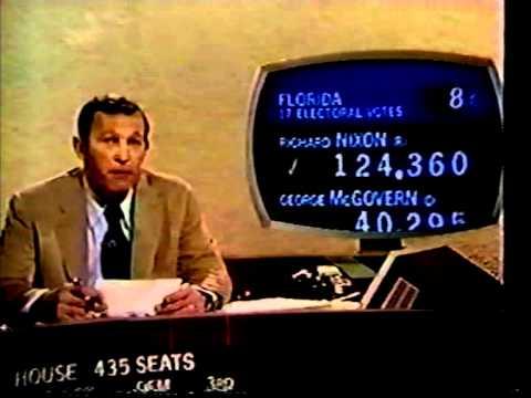 Election Night 1972 CBS News Coverage 7:30-8:00