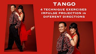 TANGO 4 Technique Exercises💪 Impulse, projection‼️Ejercicios de Tecnica desplazamientos, impulsos 🍀