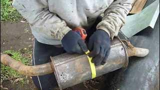 Ремонт глушителя. Часть 2.(Часть1 тут:http://youtu.be/4ndlmSZP8GY Часть3 тут:http://youtu.be/7nIKlHEy20Q В данном видео показан один из способов ремонта