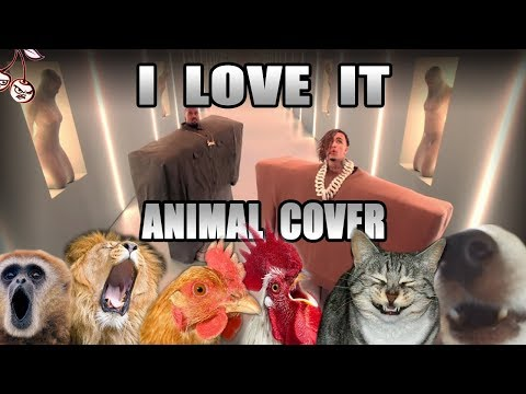 Kanye West & Lil Pump ft. Adele Givens - 'I Love It' (Animal cover) [ONLY_ANIMAL_SOUNDS]