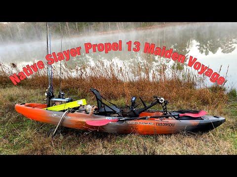 Native Slayer Propel 13 Kayak Bass Fishing - MAIDEN VOYAGE!