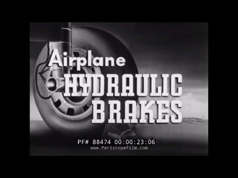 AIRPLANE HYDRAULIC BRAKE PRINCIPLES    1941 WWII TRAINING FILM  MARTIN B-26 MARAUDER  88474
