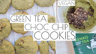 Matcha Green Tea Choc Chip Cookies | Vegan • Easy • Yum