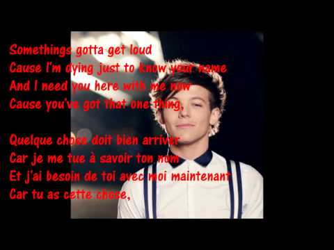 One Direction - One Thing - Lyrics +Traduction Française.
