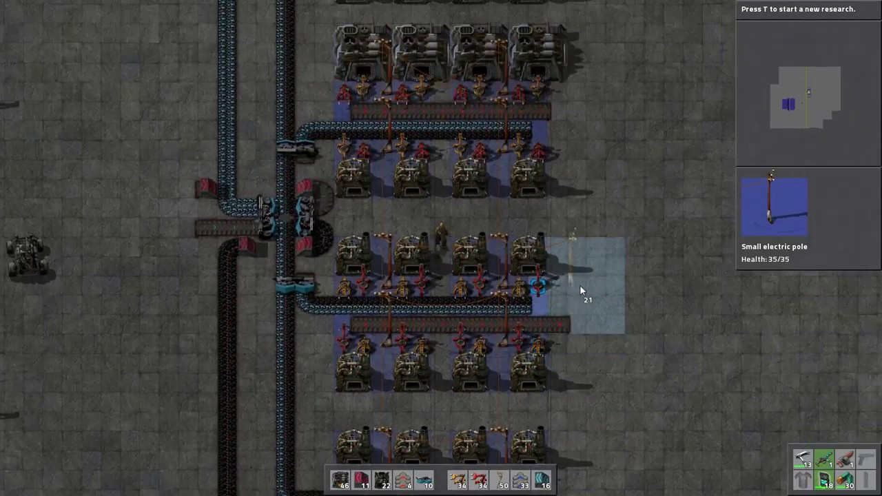 Factorio - Mid-Game Furnace Layout (Live Build)