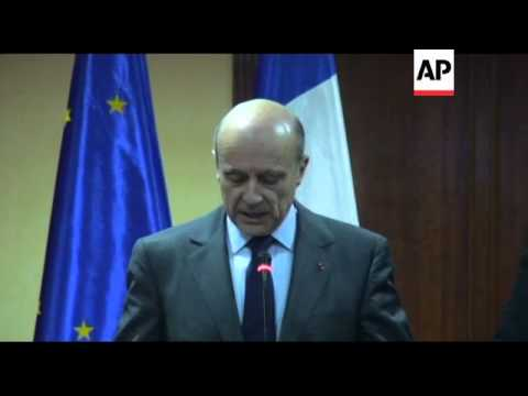 French FM and Libyan interim prime minister meet