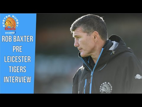 Rob Baxter pre Leicester Tigers Interview