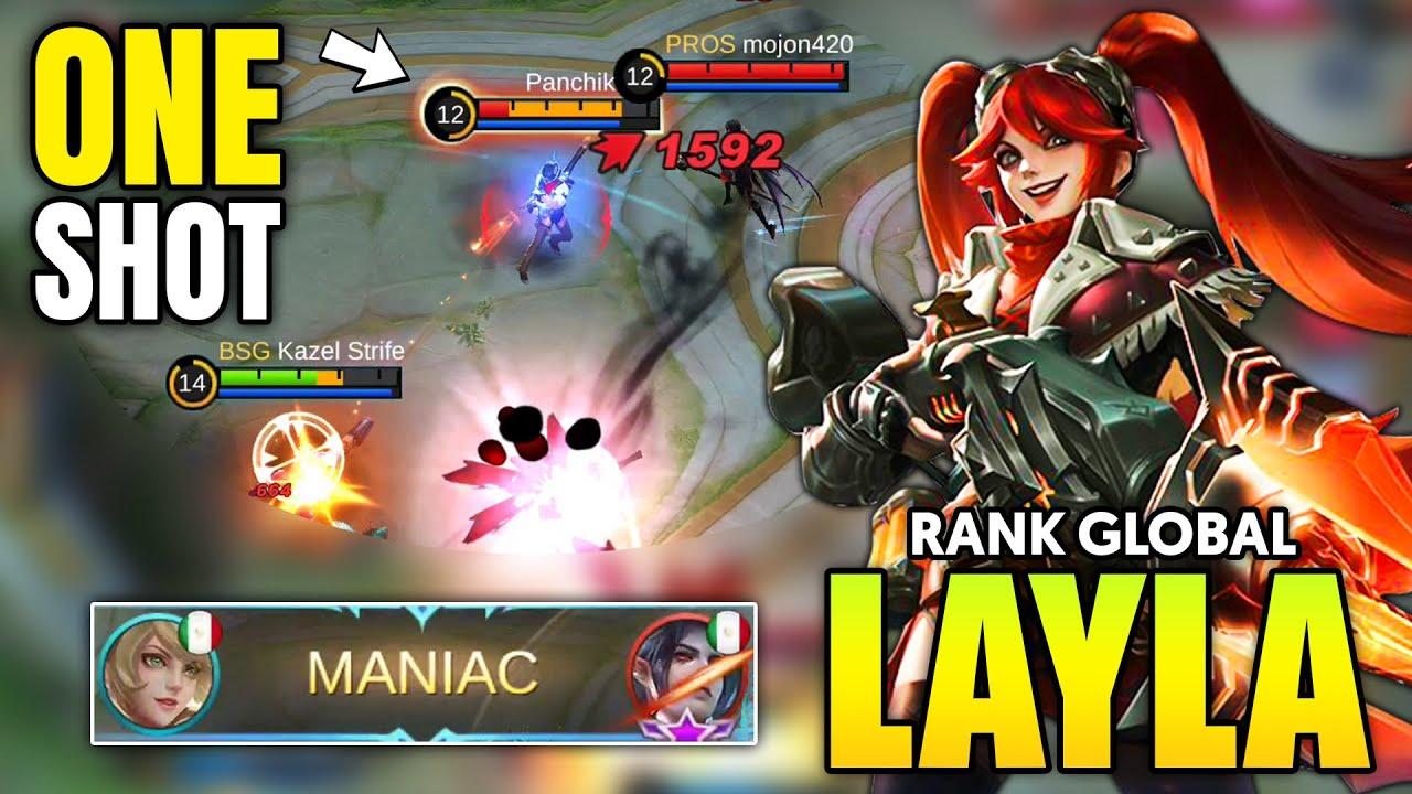 MANIAC !! LAYLA BEST BUILD 2021 ~ LAYLA TOP GLOBAL GAMEPLAY ~ LAYLA MOBILE LEGENDS