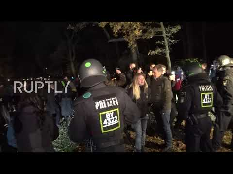 Germany: Arrests made as coronavirus sceptics rally outside pres palace after new COVID law passed