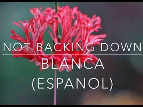 Blanca  -  NOT BACKING DOWN  -  Español