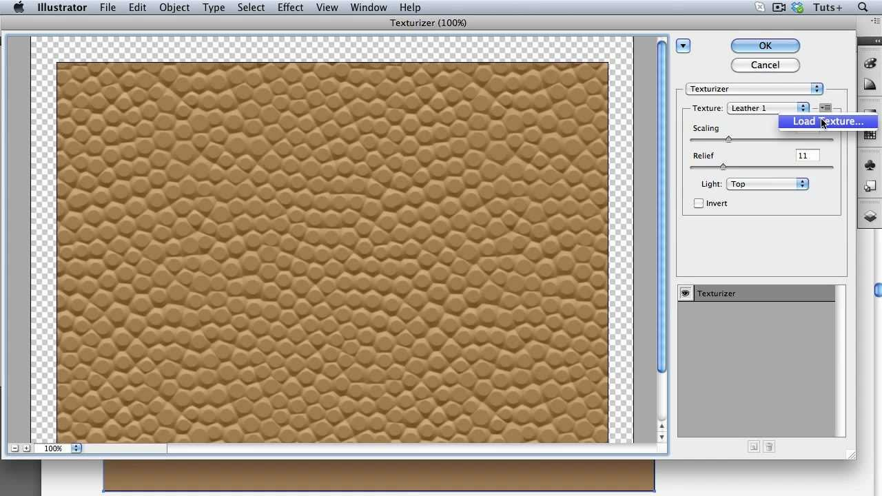 Lovely Quick Tip: Create A Custom Texture Directly In Illustrator For Use With The  Texturizer Effect   YouTube