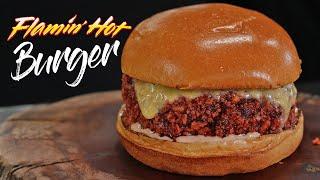 Deep Fried FLAMIN' HOT Burger Challenge!