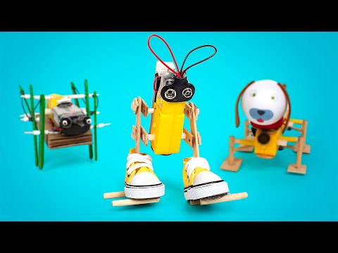 How To Make 3 Fun Mechanical Robots At Home ❤️🤖