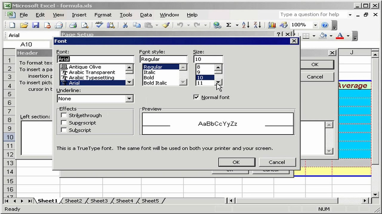 how to make static header in excel 2010