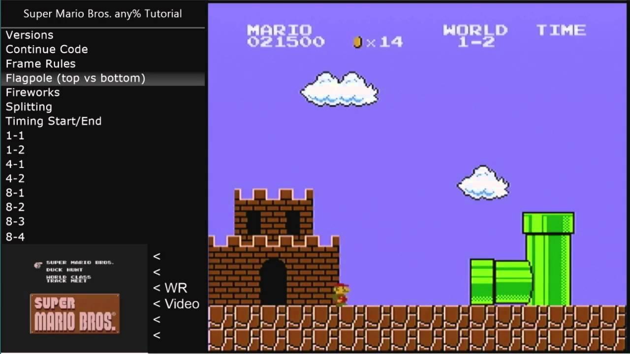 [Tutorial] Super Mario Bros  any%