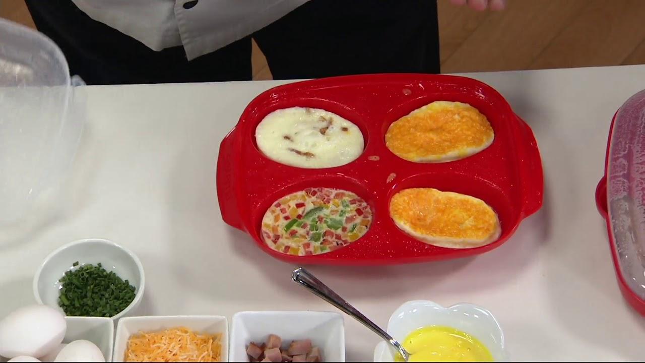 Sistema Easy Bacon Egg Poacher Microwave Cooker Set On Qvc