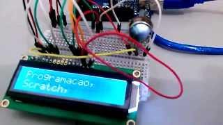 Teste com display LCD usando o Arduino e o Raspberry PI
