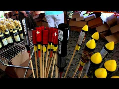 Feuerwerkshop , einkauf in der Schweiz  Impressionen  (Feuerwerkshop.ch) [Full HD]