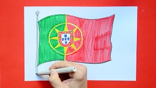 How to draw and color the National Flag of Portugal