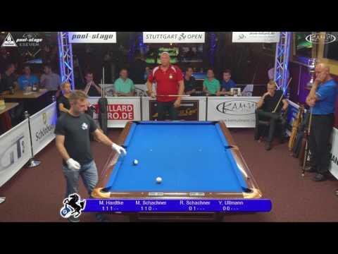 Stuttgart Open 2017, No. 19, Shootout Field G, Pool-Billard, Hardtke, Schachner, Schachner, Ullmann