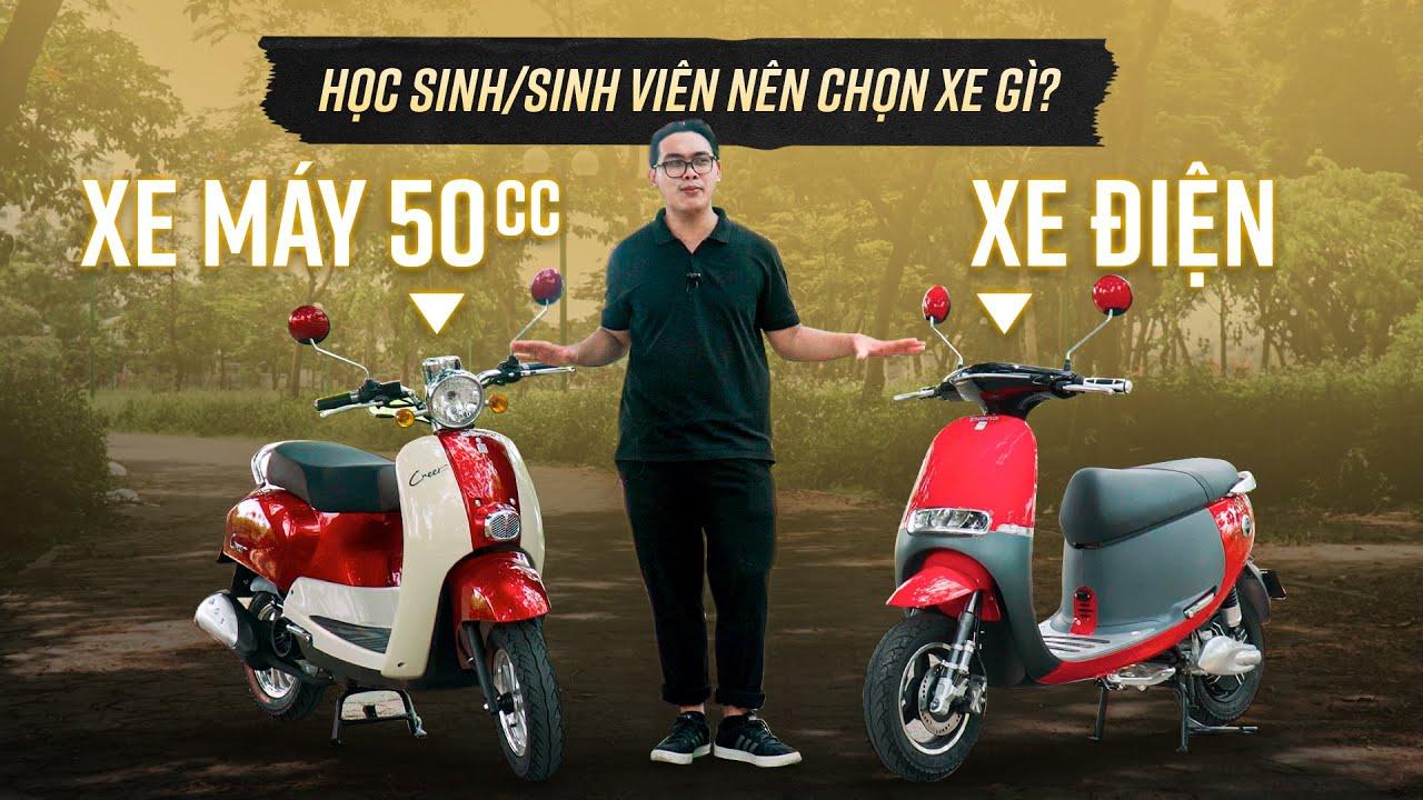 So sánh xe máy điện và xe ga 50cc: Sinh viên chọn xe nào là tốt nhất?