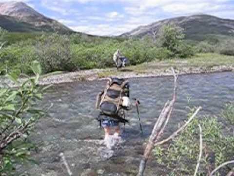 Crossing the Intga River (Canol Trail, 2007)