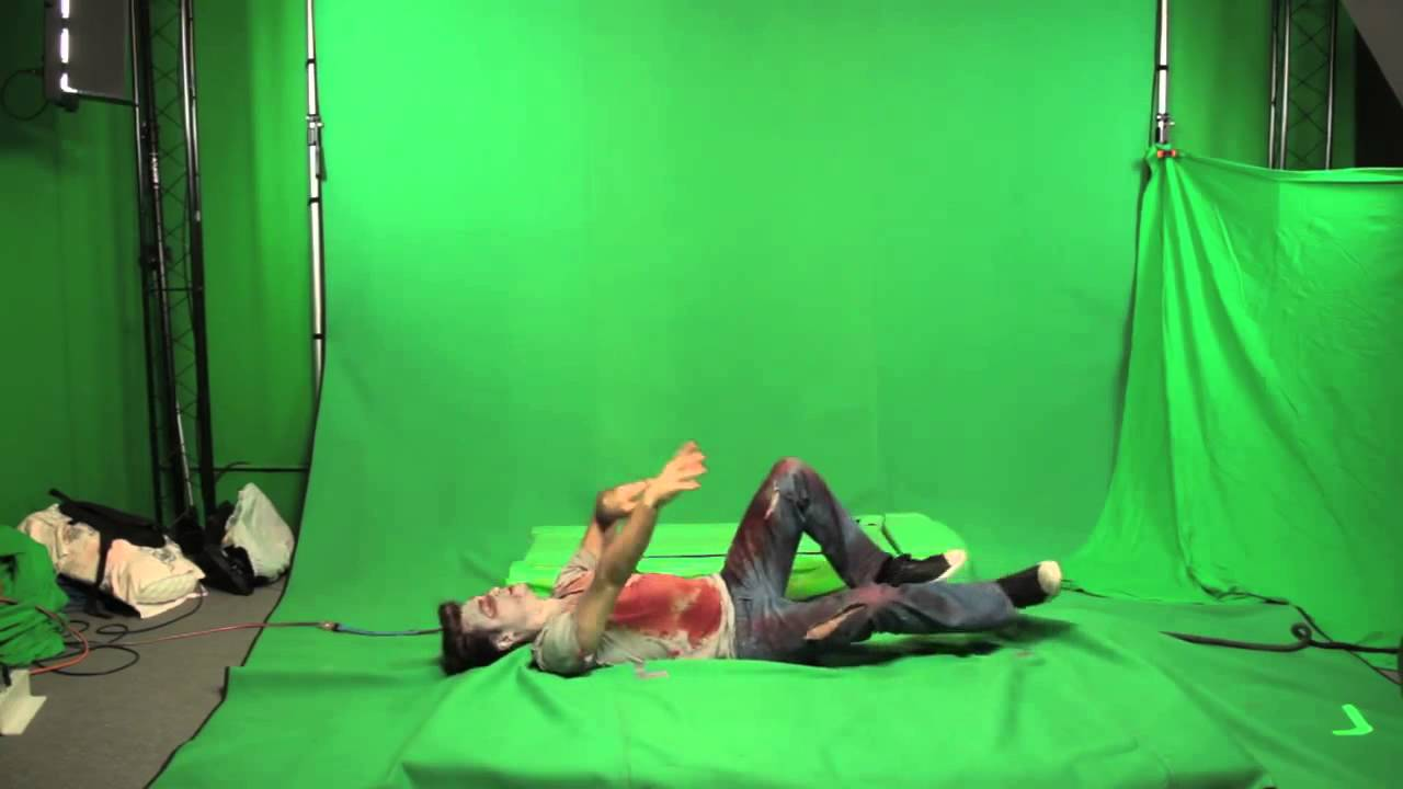 zombie road greenscreen test footage youtube