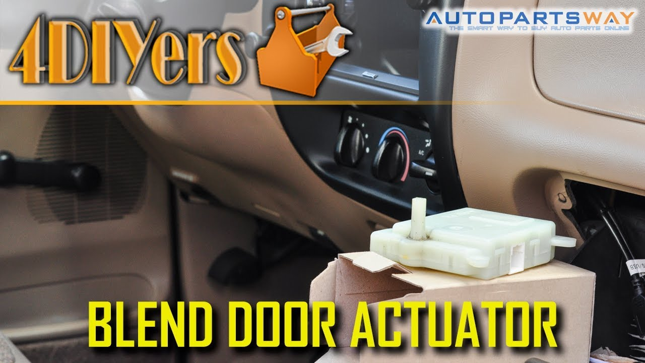 How To Replace The Blend Door Actuator On A Ford Ranger Youtube