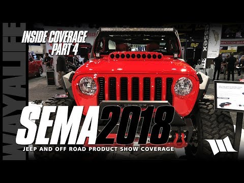 SEMA 2018 Jeep JL Wrangler INSIDE SHOW COVERAGE - PART 4 / VENOMREX / SWITCH PROS / DOMETIC / S&B