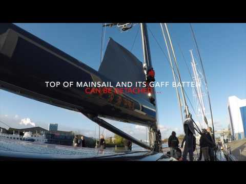 Stepping the mast of Ngoni (Video by supplier Rondal.com)