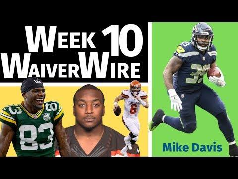 Week 10 - Fantasy Football Waiver Wire Pickups