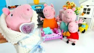 Видео с игрушками для детей - Свинка Пеппа и рождение Джорджа