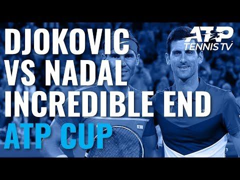 Novak Djokovic Vs Rafael Nadal: Incredible End To Match! | ATP Cup 2020 Final