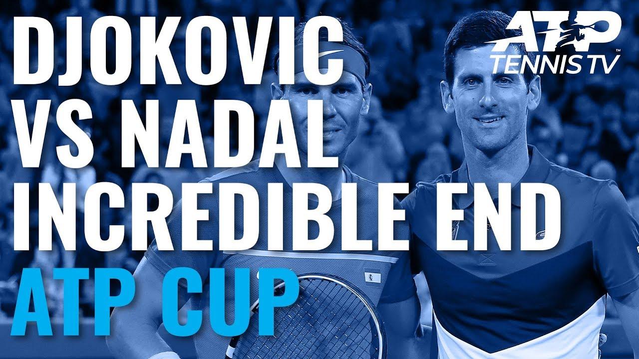 Novak Djokovic Vs Rafael Nadal Incredible End To Match Atp Cup 2020 Final