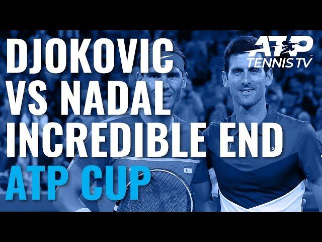 Novak Djokovic vs Rafael Nadal: Incredible End To Match!   ATP Cup 2020 Final