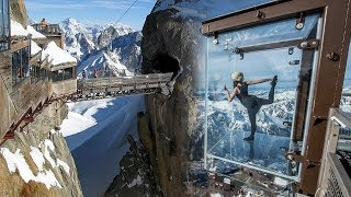 HD Mont Blanc Chamonix Aiguille du Midi in the French ALPS - Step into the void