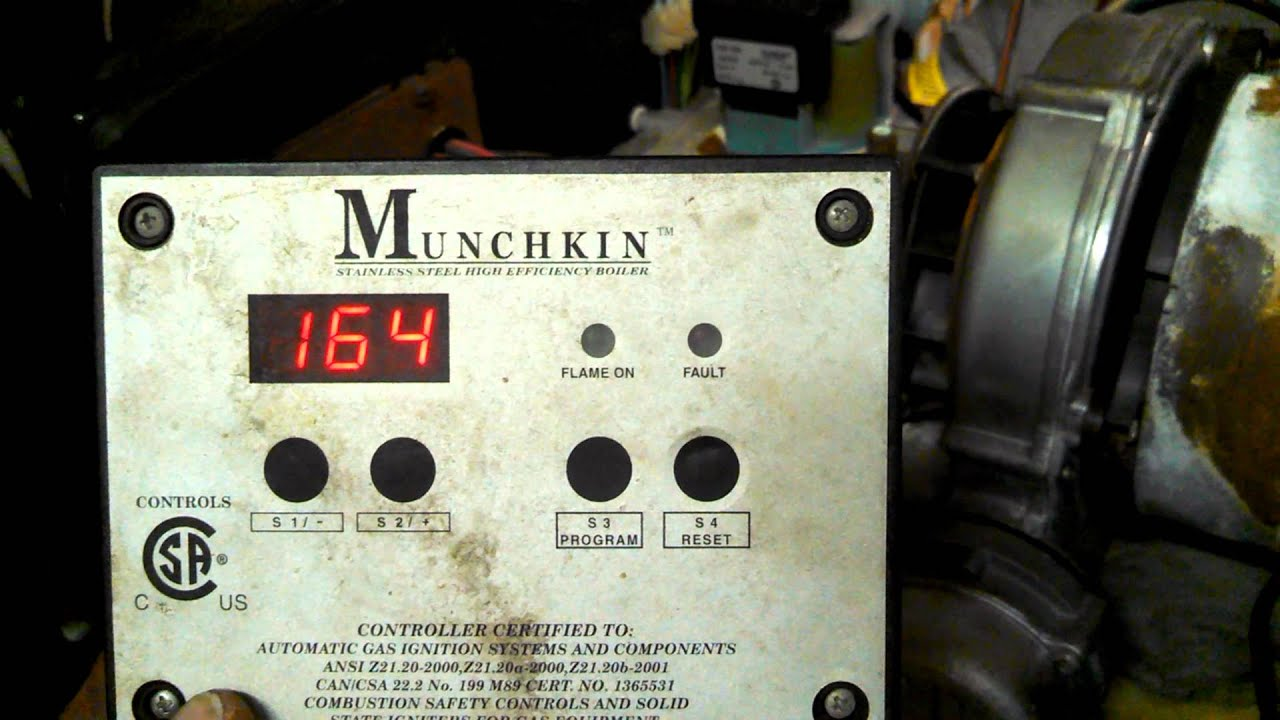 Munchkin boiler failing ignition - YouTube