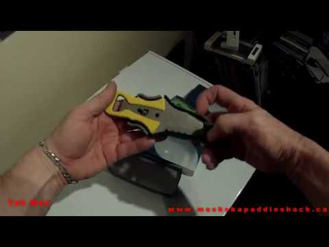 NRS Co-pilot  Knife ,HOW TO Install TO A  PFD life jacket..