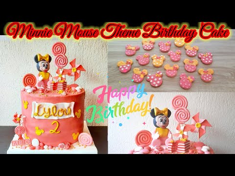 How To Make Birthday Cake And Cookies With Minnie Mouse Themed Cake