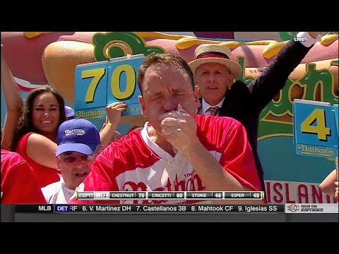 2017 Nathan's Hot Dog Eating Contest - Joey Chestnut Wins 10th Title!