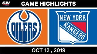 NHL Highlights | Oilers vs Rangers - Oct 12th 2019